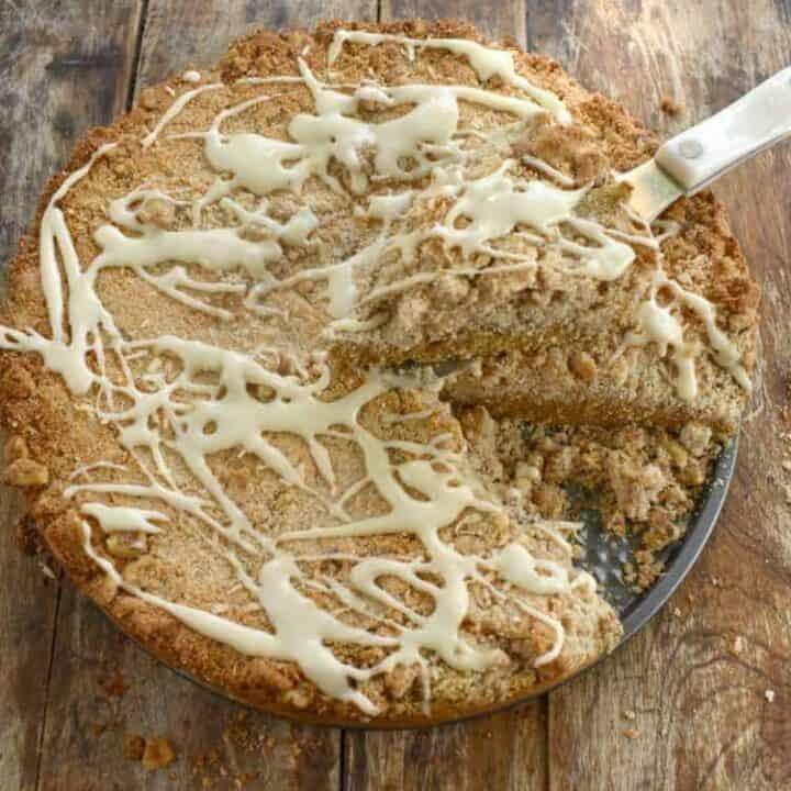 Keto Pumpkin Coconut Flour Coffee Cake