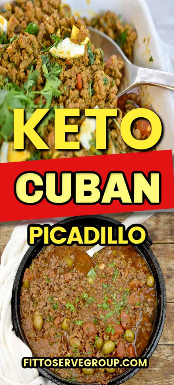 Enjoy this easy keto Cuban Picadillo without worrying about the carbs. It's a classic way of using ground beef to feed the family economically. And a recipe that the entire family will love. #ketopicadillo #picadillo #cubancuisine