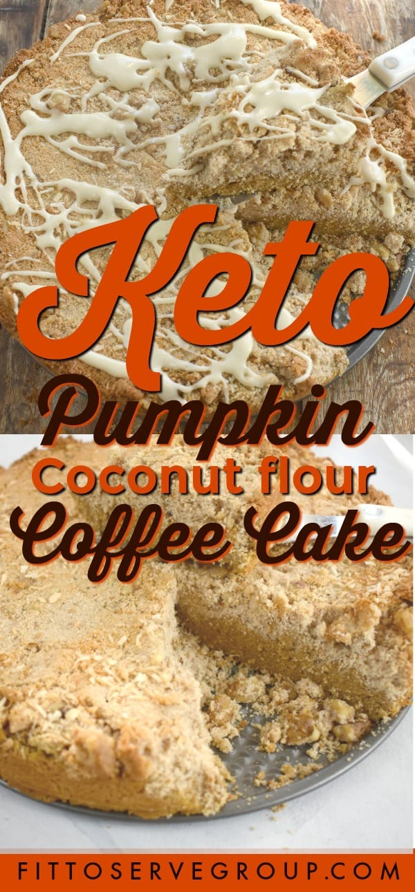 keto pumpkin coconut flour coffee cake