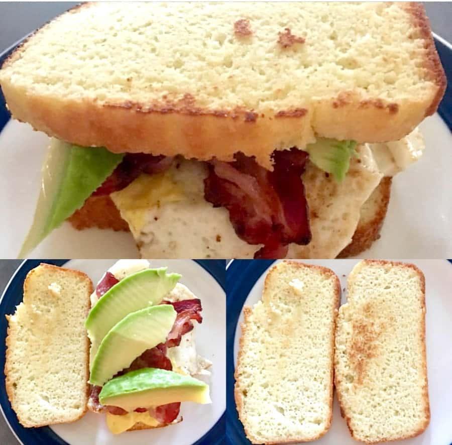 Easy Keto Bread sandwich