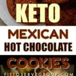 Keto Mexican Hot Chocolate Cookies with spices long pin