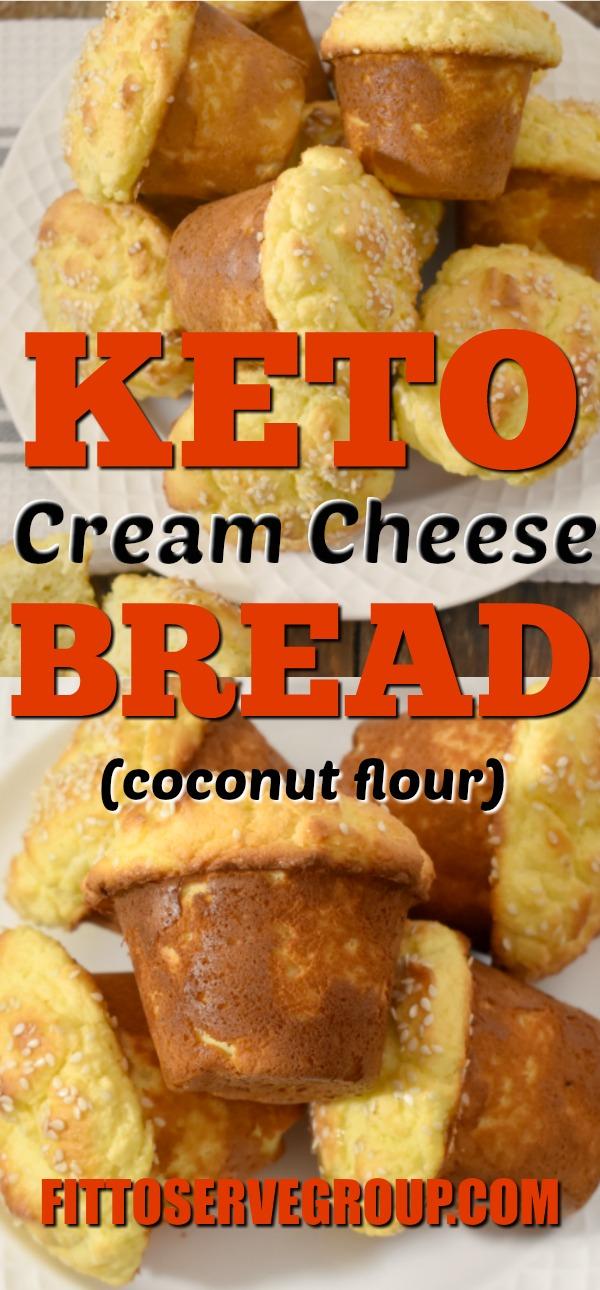 Keto Cream Cheese Bread, Keto Bread, Keto Bread muffins