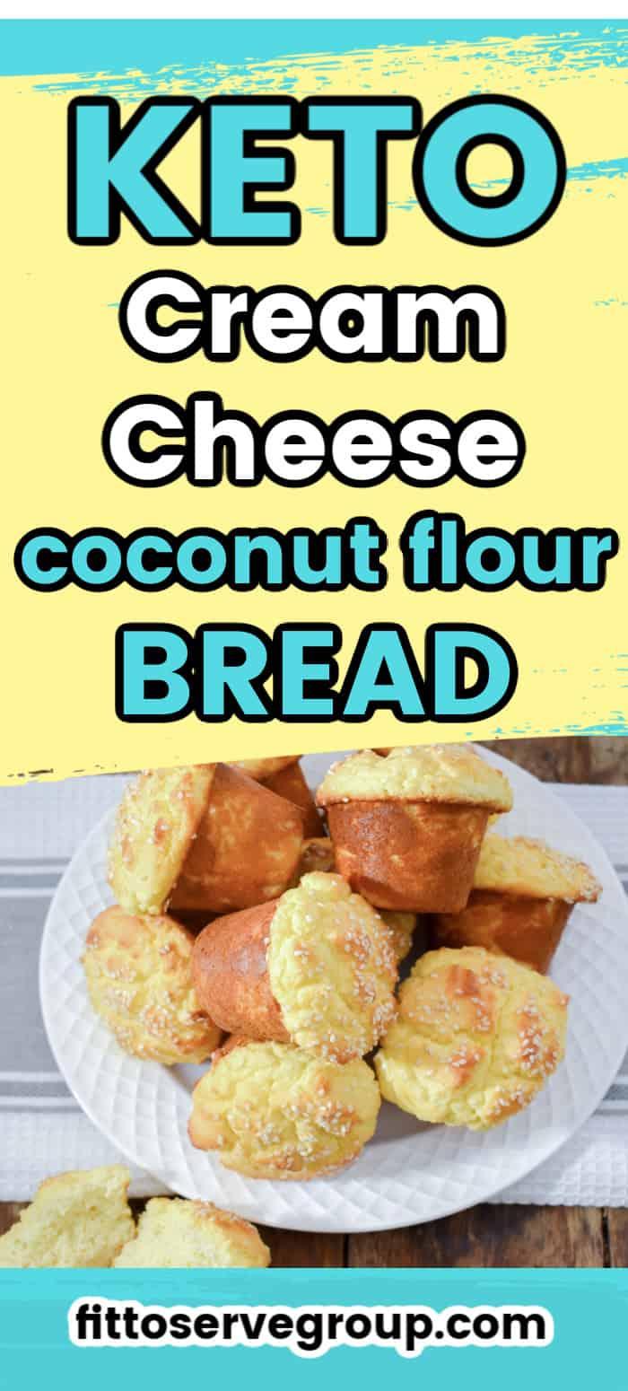 keto cream cheese coconut flour bread