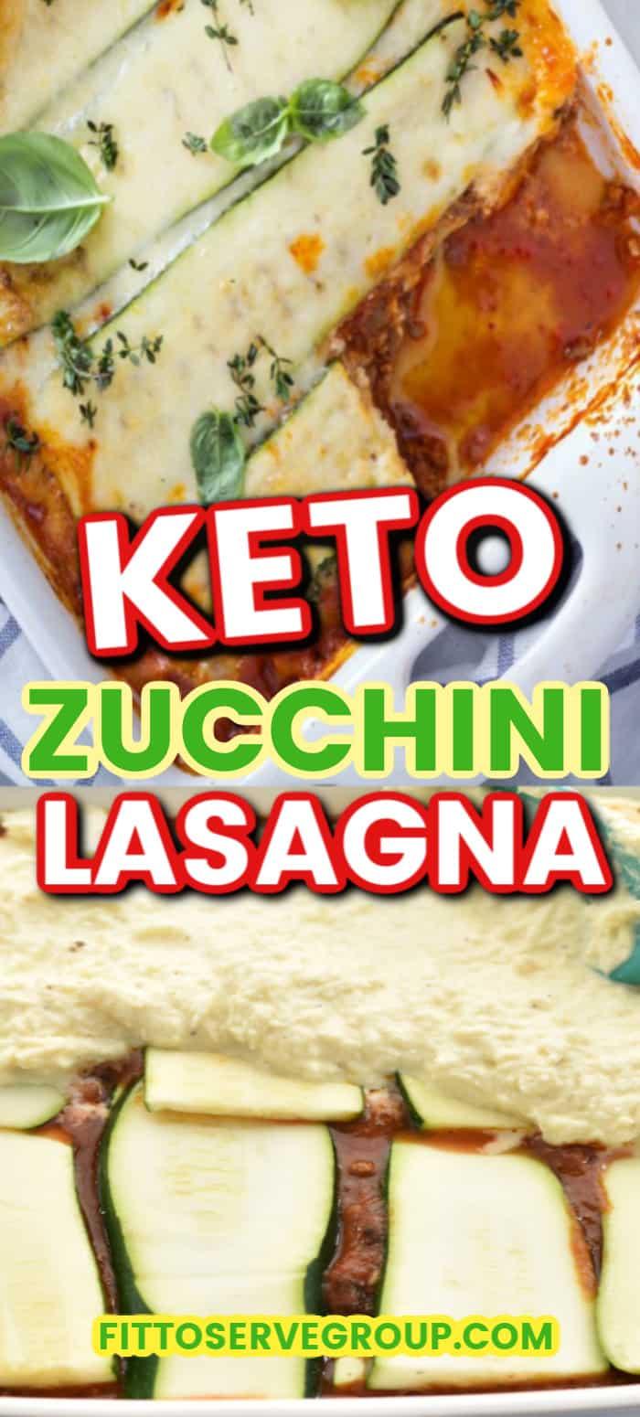 Easy Keto Zucchini Lasagna