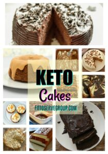 Keto Cakes it's a collection of keto, low carb cakes