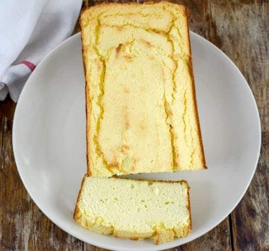 Keto Coconut Cream Cheese Pound Cake Is the coconut flour version of our very popular almond flour pound cake. This delicious keto cake is therefore not only sugar-free, grain-free, gluten-free but also nut-free. Ketococonutflourcreamcheesepoundcake #ketopoundcake #lowcarbcake