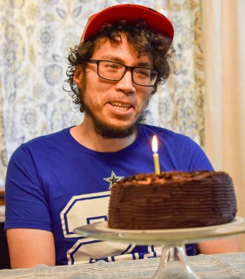 Peter Gonzalez's Keto Chocolate Birthday Cake