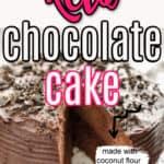 Keto chocolate coconut flour cake