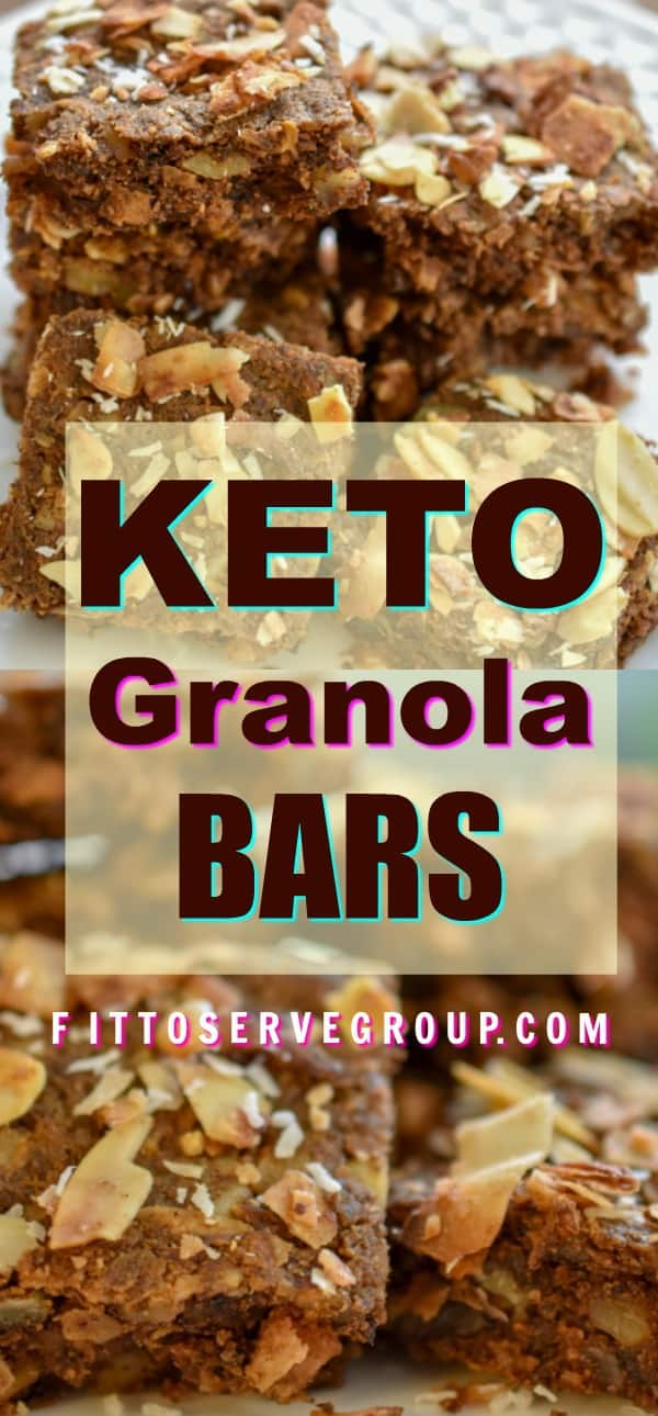 Finally, you can enjoy granola and not have to worry about your carbs. This recipe for keto granola bars gives you all the delicious flavors you love about granola bars yet it's low in carbs, sugar-free, and grain-free. #ketogranolabars #lowcarbgranolabars #grainfreegranolabars