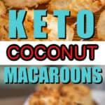 Keto coconut macaroons coconut keto macaroons
