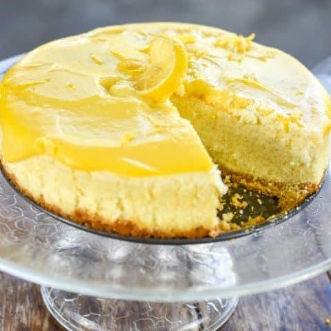 Keto Lemon Curd Cheesecake