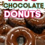 Rich Keto Chocolate Donuts