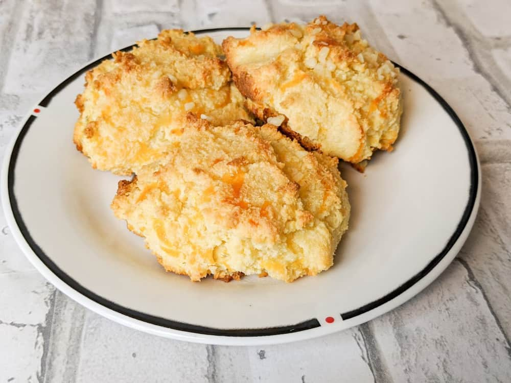 keto cheddar bay biscuits on a plate
