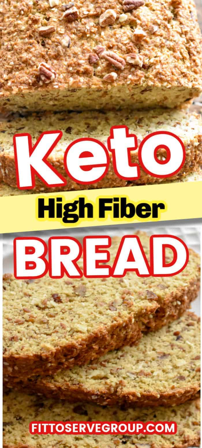 Stop missing your whole wheat bread while doing keto, when this keto high fiber bread is the solution you've been needing. It's not only a low carb bread but it's high in fiber. #ketobread #lowcarbbread #ketohighfiberbread