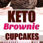 Keto Brownie Cupcakes-for when you can't decide between a brownie or a chocolate cupcake. These are low in carb brownie cupcakes that just so happen to be easy to make and decadent treat. #ketochocolatecupcake #ketobrowniecupcakes #lowcarbchocolatecupcakes #lowcarbbrowniecupcakes
