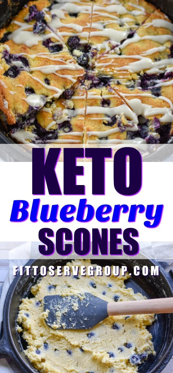 Keto blueberry Scones