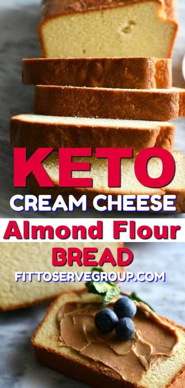 Keto cream cheese almond flour bread