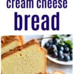 Keto Almond Flour Cream Cheese Bread on white bread