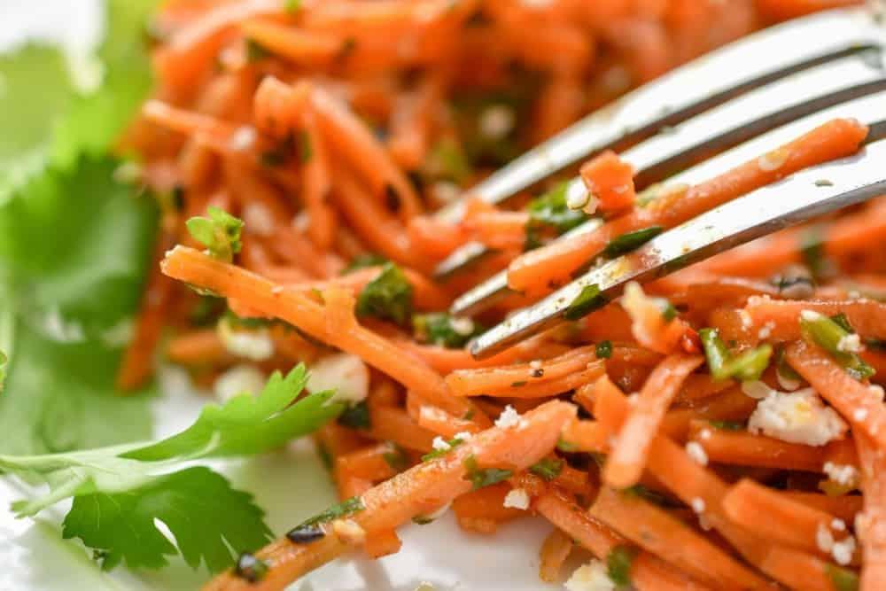 keto Moroccan carrot salad