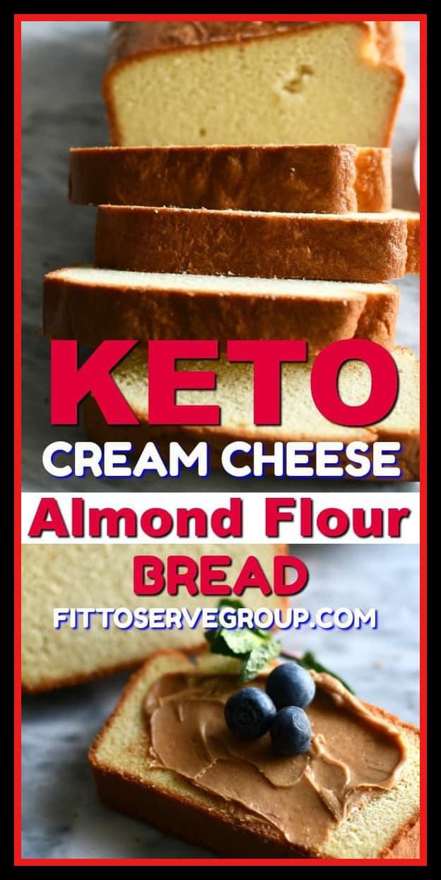 keto almond flour cream cheese bread