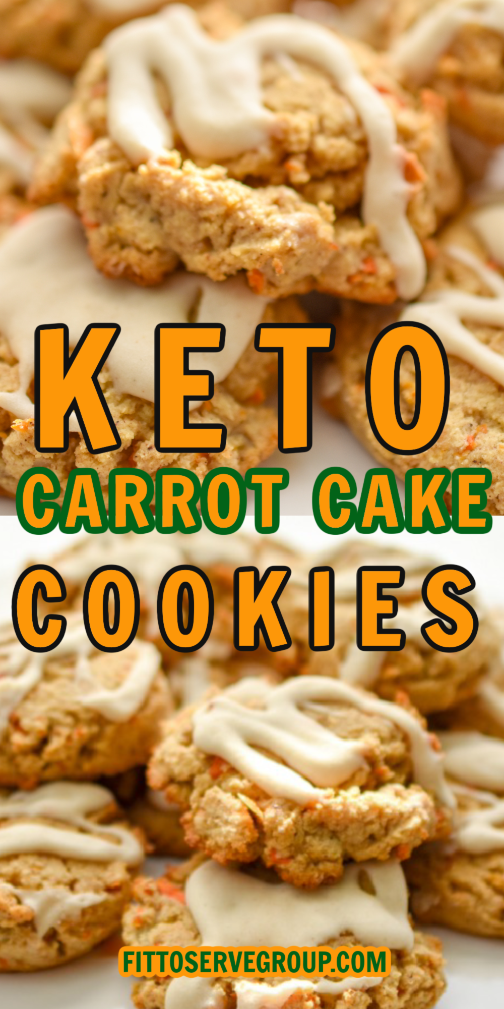 keto carrot cake cookies close up on white plates