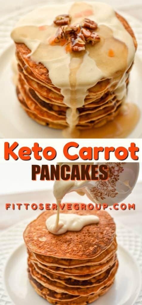 Keto Carrot Pancakes