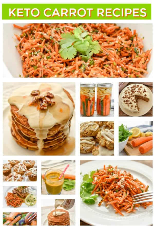 Keto Carrot Recipes that use raw, cooked, or baked carrots. From savory to sweet dishes, you'll find delicious carrot recipes to include in your keto diet.