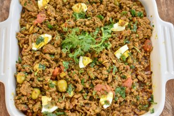 Keto Moroccan picadillo is a simple dish that gets its flavor by cooking ground beef with the exotic flavors of Morocco. The warm spices as well as Harissa paste is the basis of this very flavorful dish.