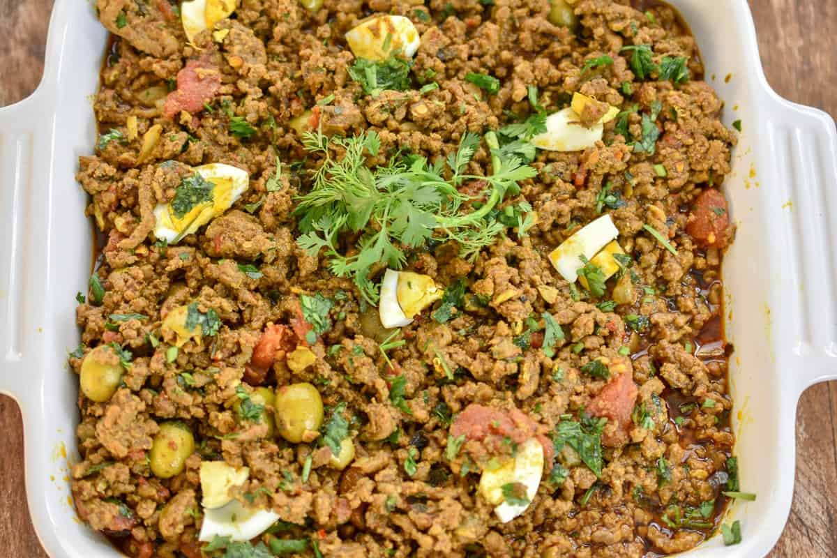 Keto Moroccan picadillo is a simple dish that gets its flavor by cooking ground beef with the exotic flavors of Morocco. The warm spices as well as Harissa paste isthe basis of this very flavorful dish.