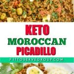 Keto Moroccan picadillo is a simple dish that gets its flavor by cooking ground beef with the exotic flavors of Morocco. The warm spices as well as Harissa paste isthe basis of this very flavorful dish. #ketopicadillo #ketomincedmeat #ketomoroccandish