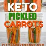 Keto pickled carrots are low in carbs and easy to prepare. It's a quick pickled option and requires only a few basic pantry staples. No canning is required making these a simple low carb condiment you can enjoy often.