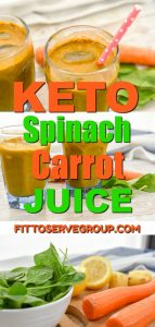 keto spinach carrot juice is a great iron and beta-carotene rich option.This recipe is high in B vitamins, as well as Vitamins A, C, and K and low in carbs.