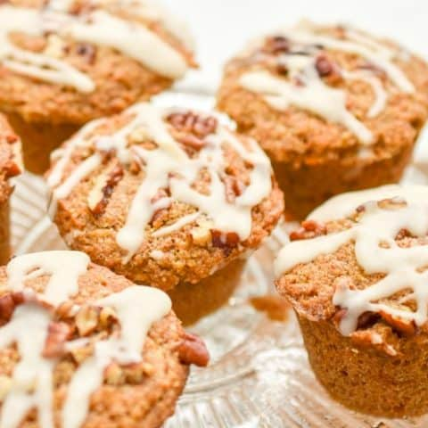 Keto Carrot Muffins are a tender, moist, grain-free, gluten-free, dairy-free, sugar-free treat. Not only are they low in carbs but they are keto-friendly. #ketomuffins #ketocarrotmuffins #ketocarrotcakemuffins #lowcarbmuffins #lowcarbcarrotcakemuffins
