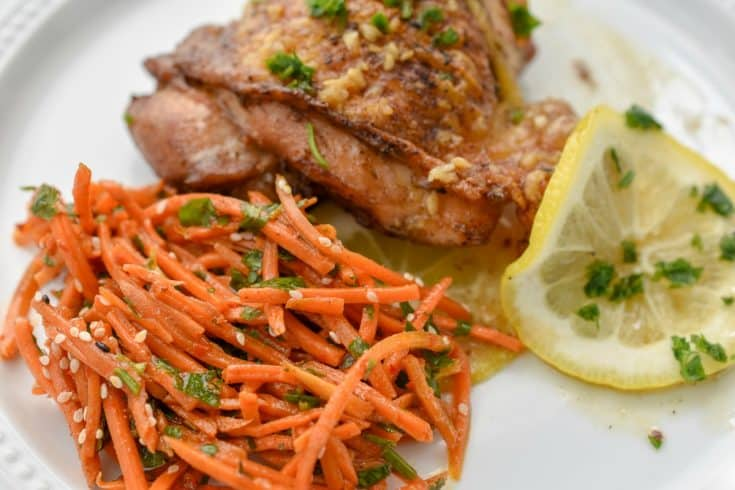 Keto Citrus Chicken With Carrot Salad