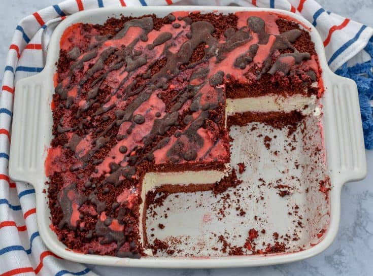 Keto Red Velvet Ice Cream Cake