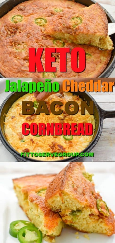 This delicious keto jalapeño cheddar bacon cornbreadwill fool your tastebuds into thinking it's the real thing. Yet it uses zero cornor cornmeal and even the texture is spot on