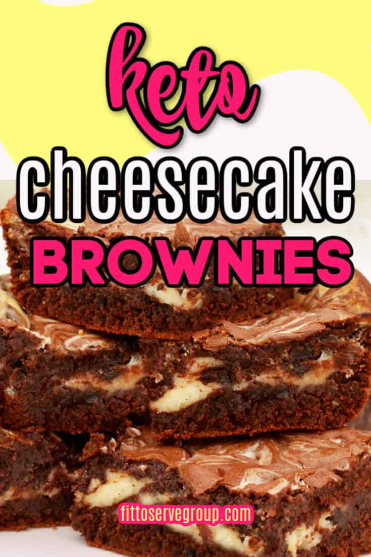 These Keto Cheesecake Brownies have the best qualities of both cheesecake and a brownies. They are rich, fudgy brownies that feature a generous swirl of cheesecake. And frankly they make one delicious keto treat. Keto Brownies| Keto Cheesecake Swirled Brownies| Low Carb Brownies| Keto Cream Cheese Brownies