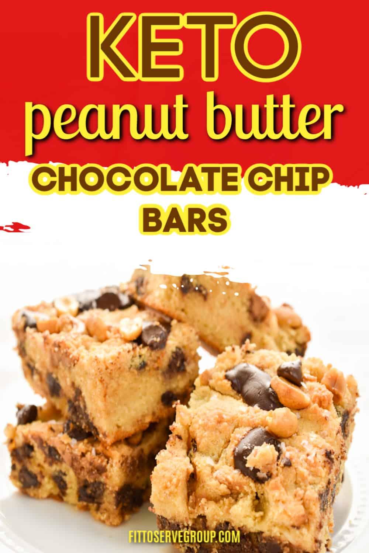 keto peanut butter chocolate chip bars