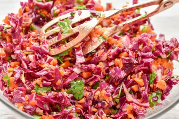Keto Red Cabbage And Carrot Slaw