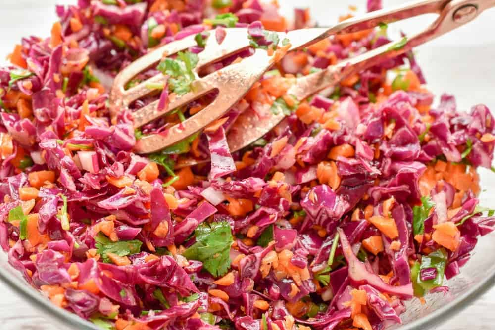 Keto Red Cabbage Slaw With Carrots Fittoserve Group
