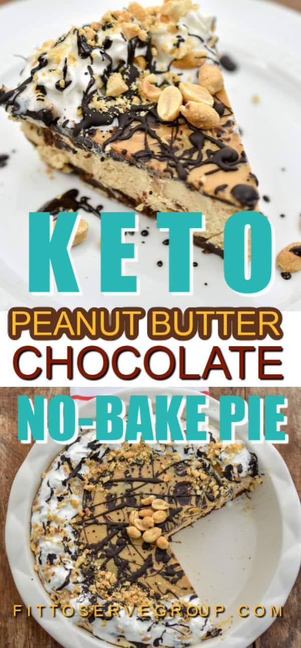 Keto Peanut Butter Chocolate No Bake Pie