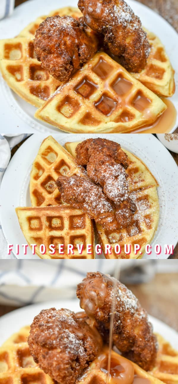 This keto chicken and waffles rivals its high carb counterpart in flavor. However, this is a delicious option has only a fraction of carbs and is keto-friendly.
