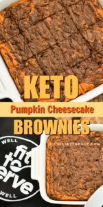 These rich Keto pumpkin cheesecake brownies are perfect for when you have a hankering for both chocolate and pumpkin and can't decide between the two. The fact that they are low in carbs, sugar-free, gluten and grain-free makes them a great treat for anyone doing a ketogenic diet.keto pumpkin recipe| low carb pumpkin recipe| sugar-free pumpkin recipe| keto pumpkin brownies| low carb pumpkin brownies