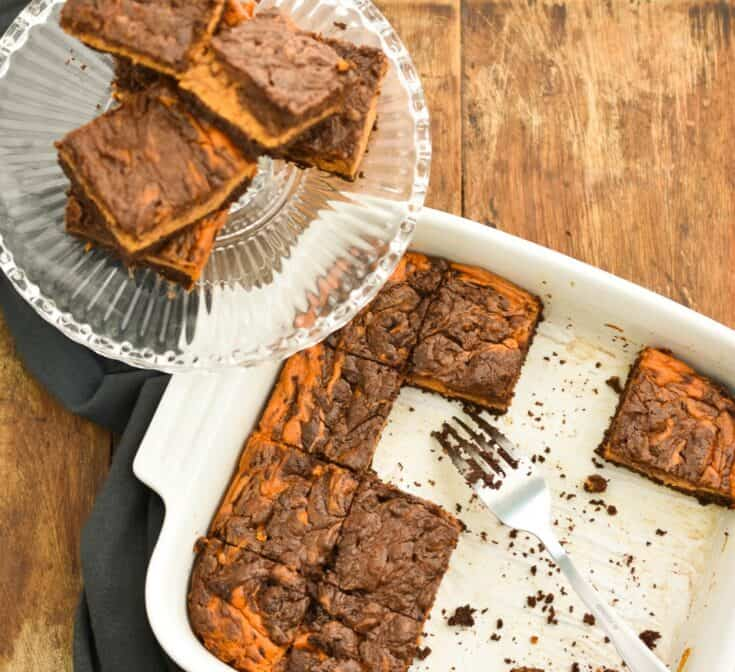 Keto Pumpkin Cheesecake Brownies