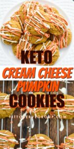Keto cream cheese pumpkin cookies pin
