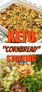 Keto cornbread stuffing long pin