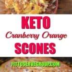 low carb cranberry orange scones