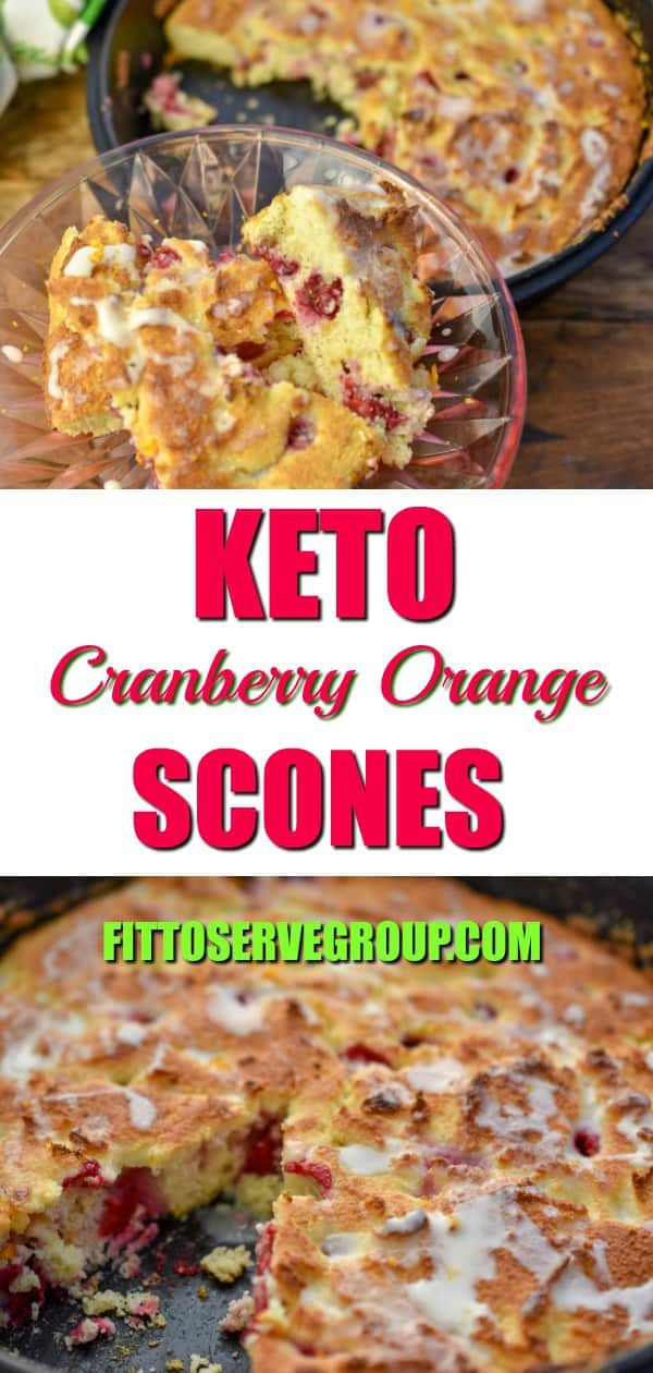 Bursting with flavor these keto cranberry orange scones are the perfect seasonal treat. Enjoy a low carb scone recipe that is studded with fresh cranberries and orange zest. Plus that fact that it's a delicious breeze to make means they are a welcome treat during the busy holidays. keto scones| low carb scones| keto cranberry recipe| low carb cranberry recipe