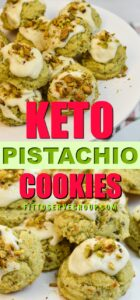 Keto pistachio cookies plated