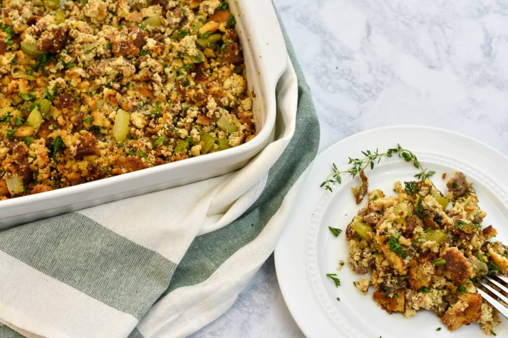 keto stuffing on a white marble background